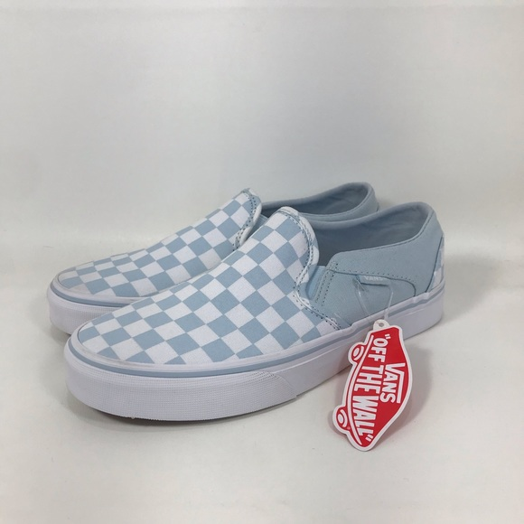 asher blue checkered vans off 55% - www